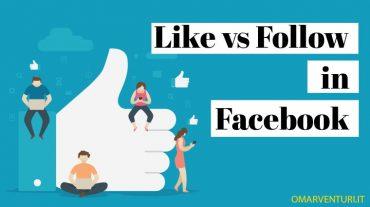 Differenza tra Like e Follow in Facebook