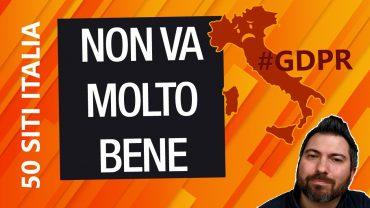 GDPR Italia: non siamo messi bene