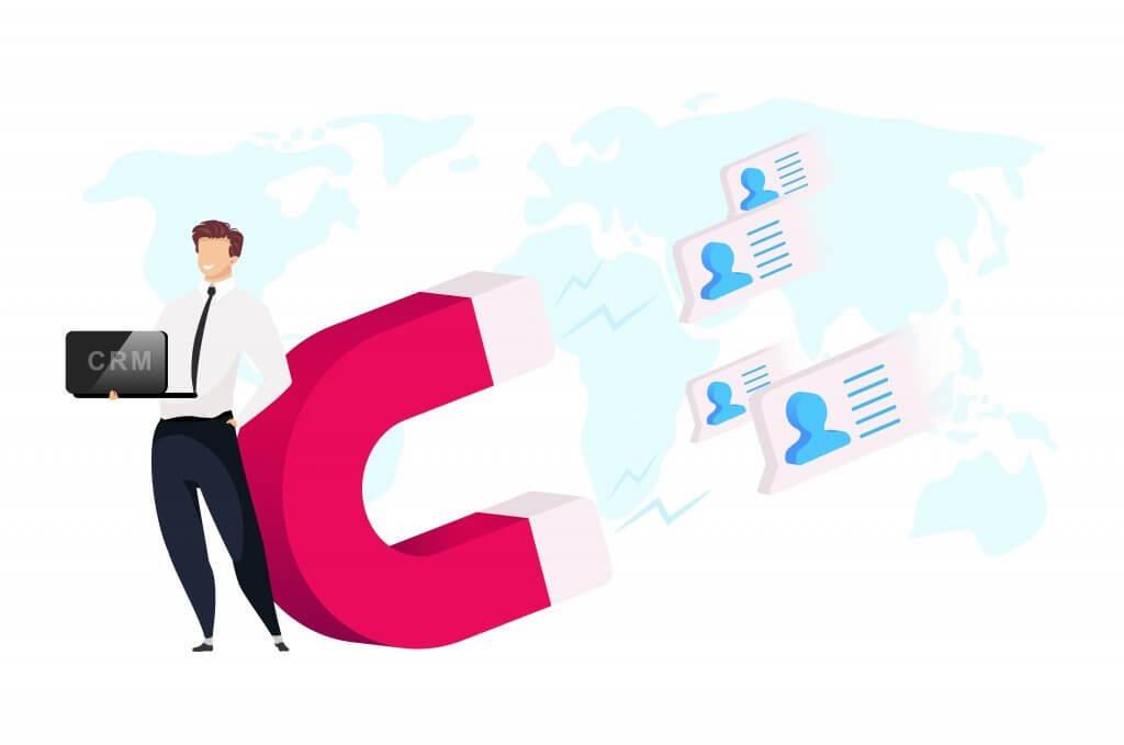 Venditore che utilizza un CRM per trasformare i lead in clienti