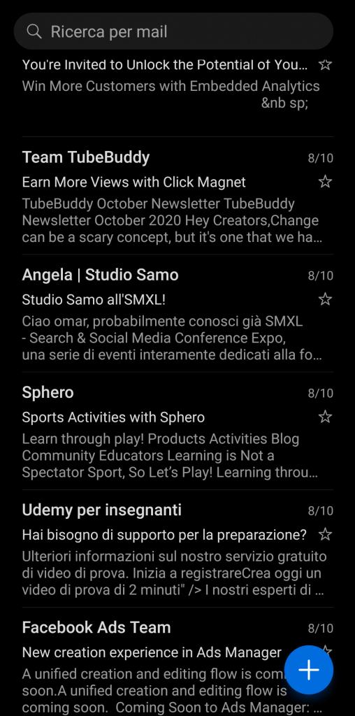 Anteprnteprime messaggi emailime messaggi email