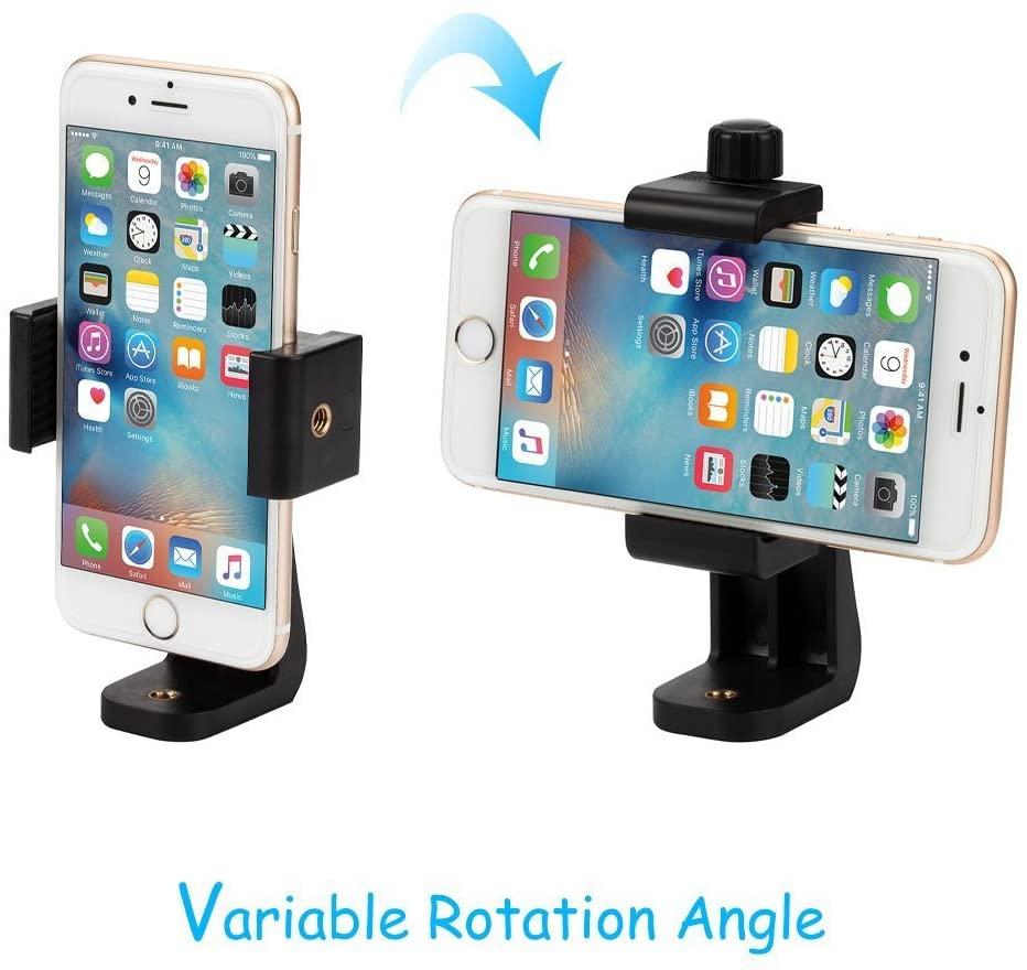 esempio di utilizzo in verticale e in orizzontale del supporto