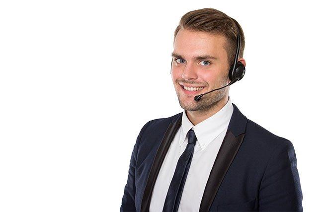 venditore al telefono